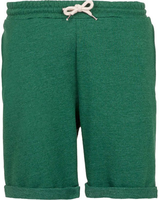 Topman Green Jersey Shorts