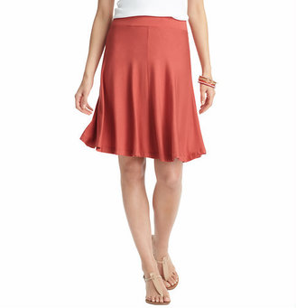 LOFT Swingy Elastic Waist Skirt