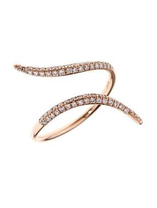 Diane Kordas Diamond & rose-gold wrap ring