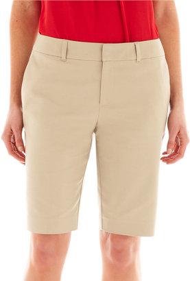 Liz Claiborne Double-Cotton City Shorts