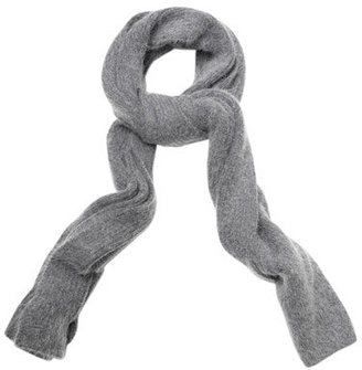 Acne River angora ribbed scarf