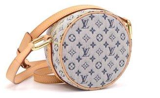 Louis Vuitton very good (VG Jeanne Blue Mini Monogram Canvas Shoulder Bag