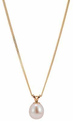 A B Davis Freshwater Pearl Pendant Necklace, Gold/White
