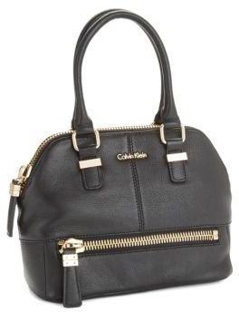Calvin Klein Textured Leather Satchel