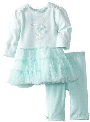 Little Me Baby-Girls Newborn Bunny Tutu Legging Set