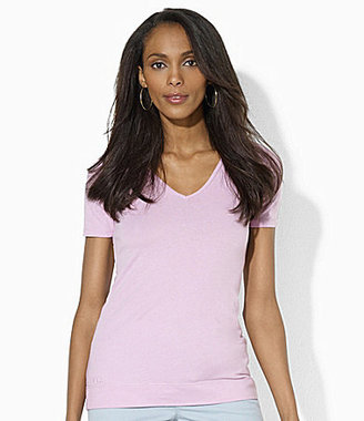 Lauren Ralph Lauren Short-Sleeve V-Neck Tee