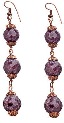 Shabana Khan Zara Ruby and Copper Earrings