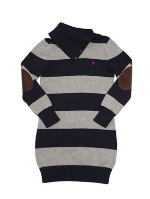 Ralph Lauren Cotton And Wool Two Tone Dress
