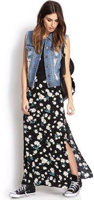 Forever 21 Flower Child M-Slit Maxi Skirt