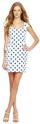 Betsey Johnson Polka-Dot Peplum Dress