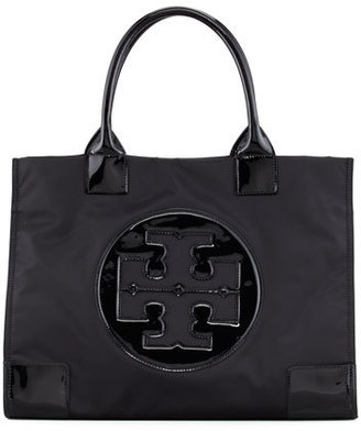 Tory Burch Ella Nylon Tote Bag, Black $195 thestylecure.com