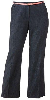 Apt. 9 curvy straight-leg trouser jeans - women's plus