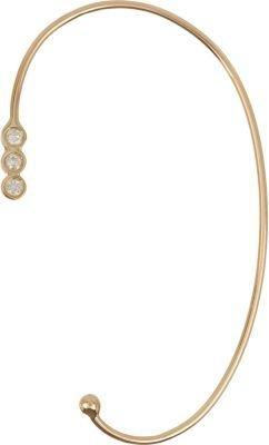 Jennie Kwon Women's Diamond & Gold Ear Cuff $695 thestylecure.com