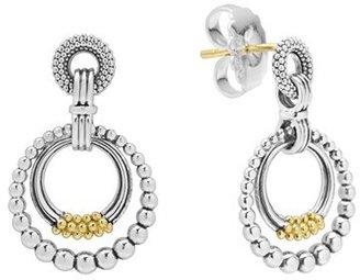 Women's Lagos Caviar 'Superfine' Two-Tone Door Knocker Earrings $295 thestylecure.com