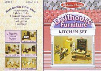Melissa & Doug Deluxe Dollhouse Kitchen Furniture