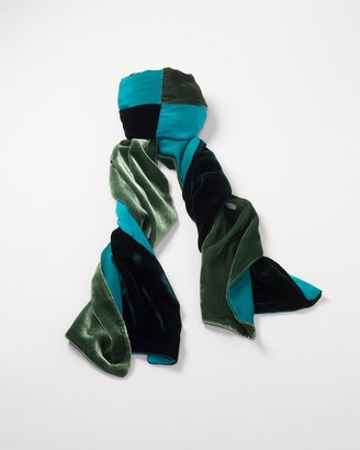 Coldwater Creek Velvet blocked scarf