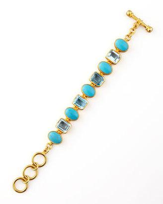 Dina Mackney Turquoise & Blue Topaz Bracelet