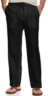 Tasso Elba Men's Drawstring Linen Pants, Created for Macy's