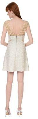 Kay Unger Metallic Yoke A Line Dress