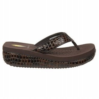 Volatile Women's Mini Croco Wedge Sandal