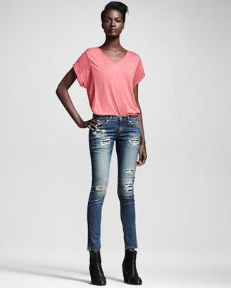 Rag and Bone Ripped Skinny Grayson Jeans