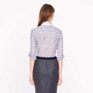 J.Crew Collection jeweled-collar Liberty blouse in meadow floral