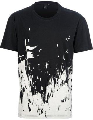 McQ by Alexander McQueen paint splattered t-shirt