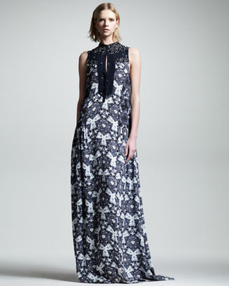 A.L.C. Lee Kaleidoscope Silk Maxi Dress