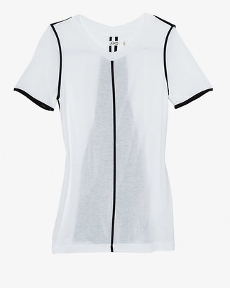 Aiko Exclusive Contrast Back Panel Tee