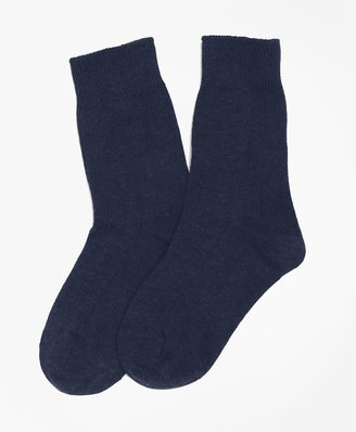 Brooks Brothers Boys Cotton Lycra Rib Socks