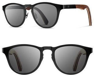 Men's Shwood 'Francis' 49Mm Titanium & Wood Sunglasses - Black/ Walnut $189 thestylecure.com