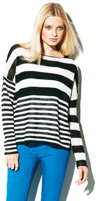 Vince Boat Neck Striped Sweater