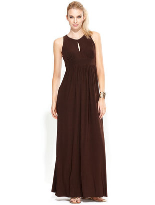 INC International Concepts Dress, Sleeveless Keyhole Maxi