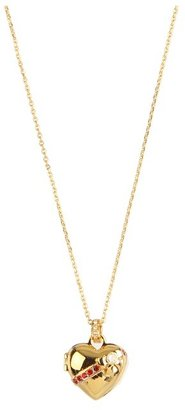 Juicy Couture Heart Locket Necklace (Gold) - Jewelry