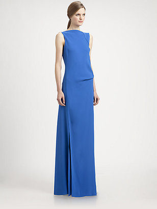 Reed Krakoff Boatneck Twist Gown