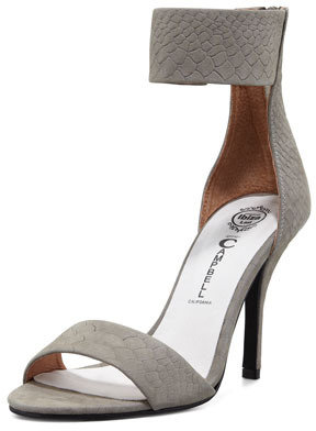 Jeffrey Campbell Inaba Snake-Embossed Ankle-Band Sandal (Stylist Pick & Blogger Pick!)