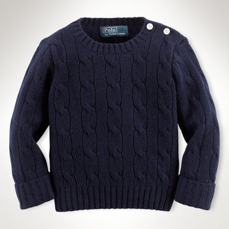 Ralph Lauren Boy Cabled Cashmere Sweater