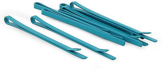 France Luxe Med Wide Bobby Pins - Aqua