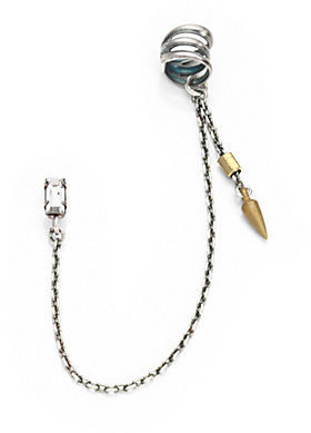Bing Bang Spike Chain Cuff Earring