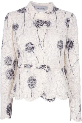 Valentino floral lace jacket