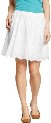 Old Navy Women's Embroidered Sateen Skirts