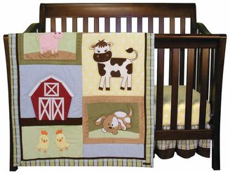Trend Lab Baby Barnyard 3-pc. Crib Bedding Set