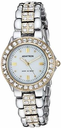 4e02491d8 Swarovski Armitron Women's 75/3689MPTT Crystal Accented Two-Tone Dress Watch