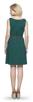 Merona Women's Textured Stripe Dress - Acacia Leaf