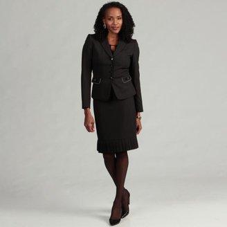 Tahari Women's Pleat Hem Pinstripe Skirt Suit $60.74 thestylecure.com