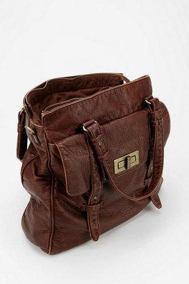 BDG Vegan Leather Turn-Lock Tote Bag