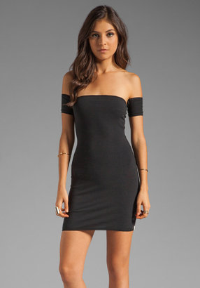 One Teaspoon Holster Off Shoulder Body Con Dress