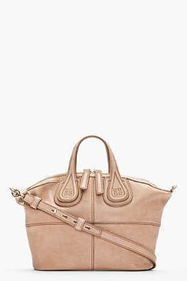 Givenchy Small Light Taupe Zanzi Nightingale Bag