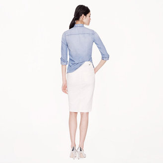 Gold Sign for J.Crew Holly skirt in ecru wash
