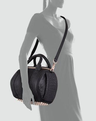 Alexander Wang Rockie Crossbody Satchel Bag, Black/Rose Gold